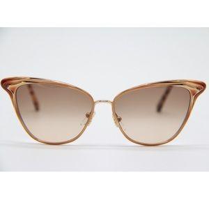 New Sunglasses Chloe CE173S 743 Gold Cat Eye Frame